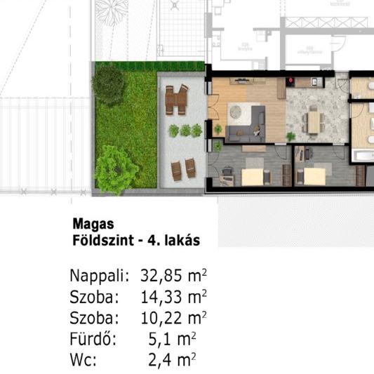 Eladó  téglalakás (Budapest, XIII. kerület, ) 33,89 M  Ft
