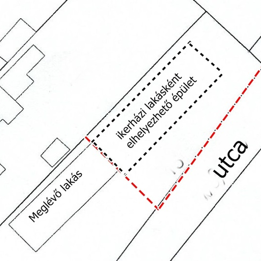 Eladó  telek (Tököl, HÉV állomás közeli ) 5,5 M  Ft