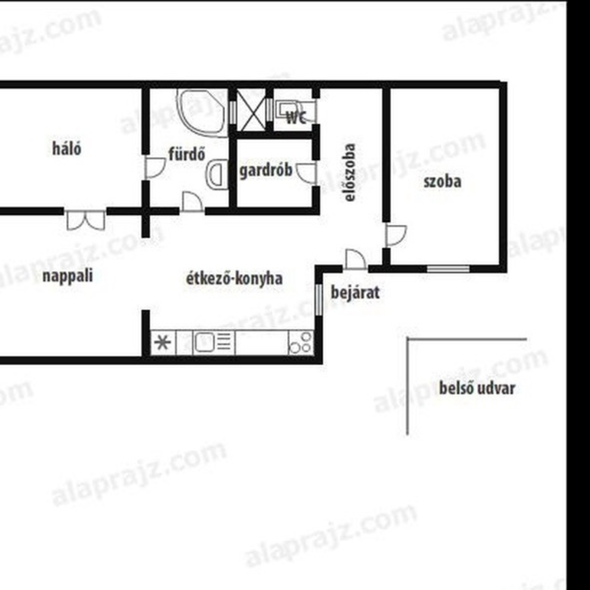 Eladó  téglalakás (Budapest, VII. kerületBudapest, VII. kerület) 49,9 M  Ft