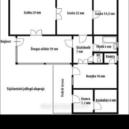 Eladó  családi ház (Mezőtúr, Központ közeli) 16,3 M  Ft