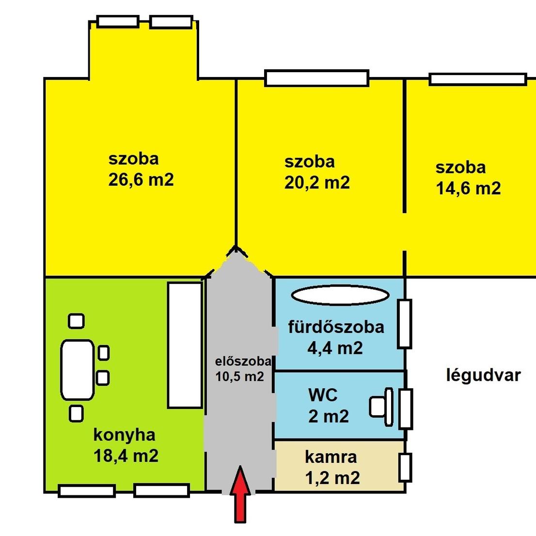 Eladó  téglalakás (Budapest, IX. kerület) 53,9 M  Ft