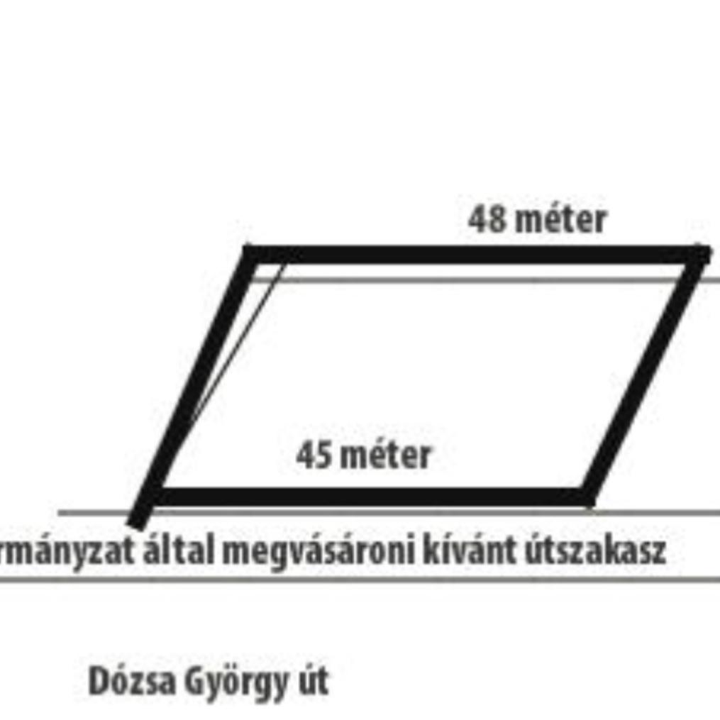 Eladó  telek (Budapest, XXII. kerületBudapest, XXII. kerület, Dózsa György út) 30,9 M  Ft