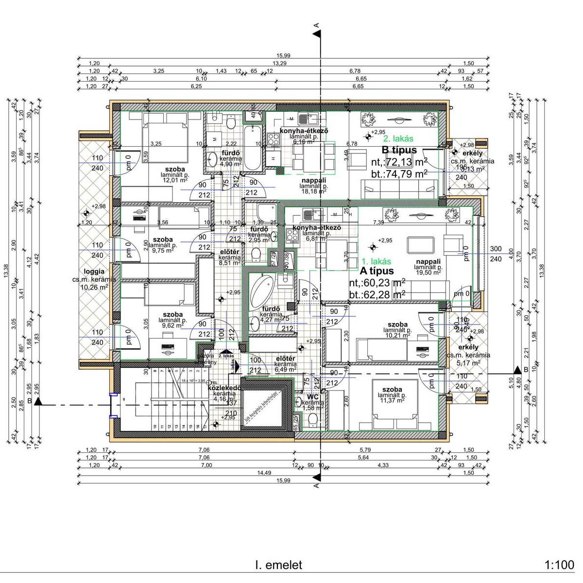 Eladó  téglalakás (Budapest, XIV. kerületBudapest, XIV. kerület) 58,3 M  Ft