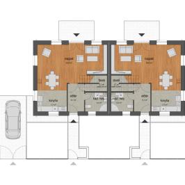 Eladó  sorház (Nagytarcsa, Füzesliget lakópark) 41,98 M  Ft