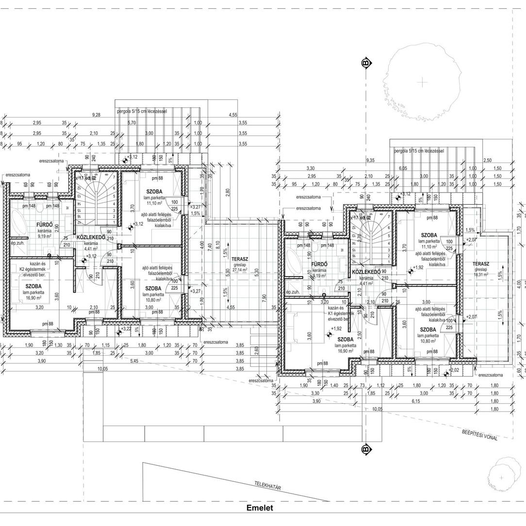 Eladó  ikerház (Budapest, XVI. kerületBudapest, XVI. kerület) 129 M  Ft