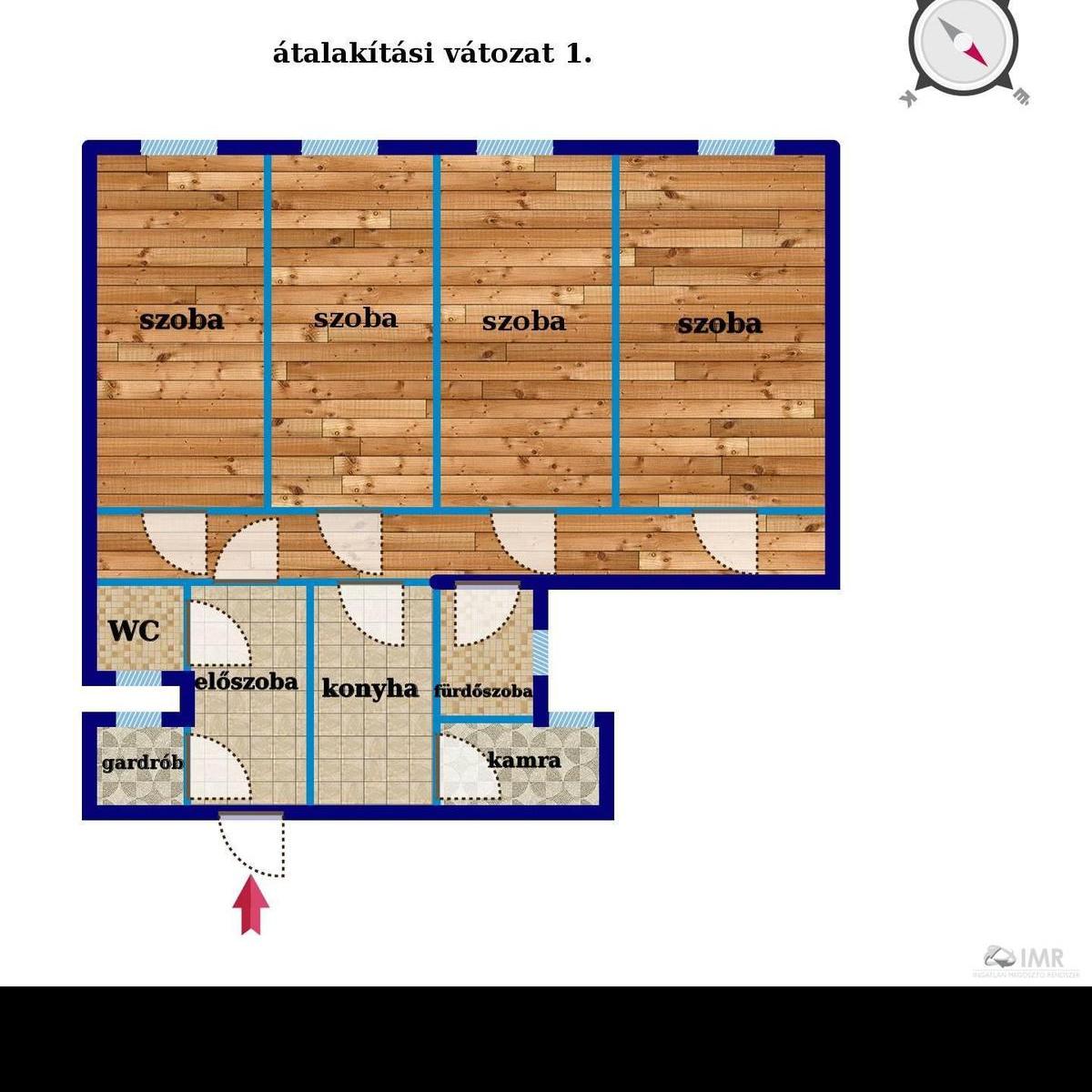Eladó  téglalakás (Budapest, VI. kerületBudapest, VI. kerület, Rózsa u.) 44,9 M  Ft