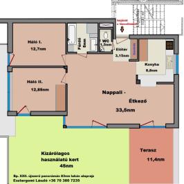 Eladó  téglalakás (Budapest, XXII. kerület) 76,2 M  Ft