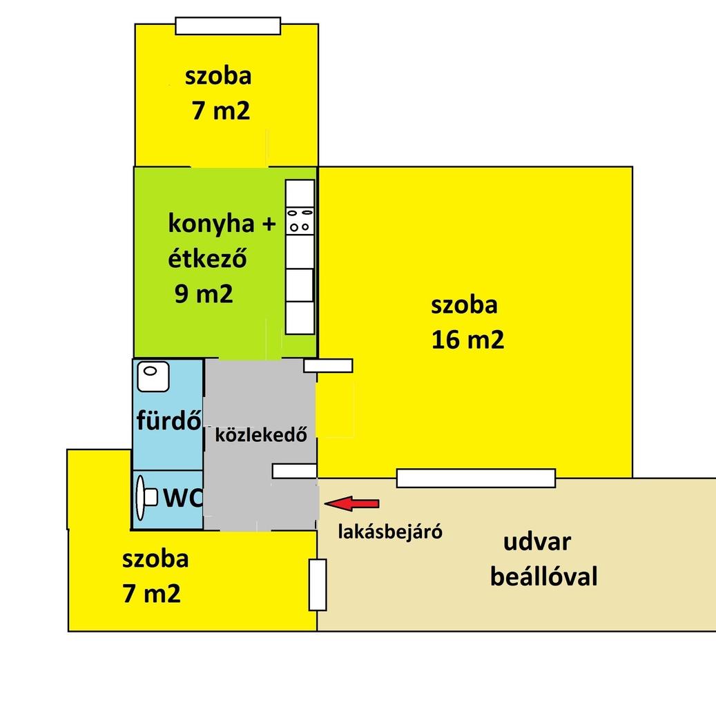Eladó  téglalakás (Budapest, IX. kerület) 20,6 M  Ft