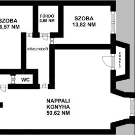 Kiadó  téglalakás (Budapest, I. kerület) 350 E  Ft/hó
