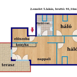 Eladó  téglalakás (Budapest, XIV. kerület) 52,99 M  Ft