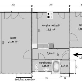 Eladó  téglalakás (Tököl, Pesti úti lakótelep) 16,5 M  Ft