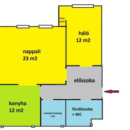 Kiadó  téglalakás (Budapest, IX. kerület) 250 E  Ft/hó