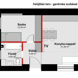 Eladó  téglalakás (Budapest, XIII. kerület) 36 M  Ft