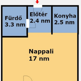 Eladó  téglalakás (Budapest, XI. kerület) 31,6 M  Ft