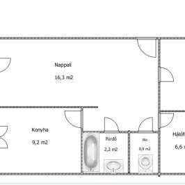 Eladó  panellakás (Dunaföldvár) 12,5 M  Ft