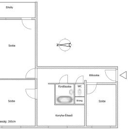 Kiadó  panellakás (Paks, Lakótelep) 150 E  Ft/hó +ÁFA
