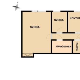 Eladó  téglalakás (Tököl, Pesti úti lakótelep) 15,7 M  Ft