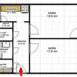 Eladó  panellakás (Budapest, III. kerület) 33,9 M  Ft