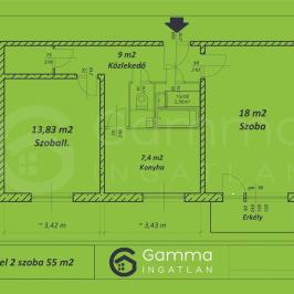 Eladó  panellakás (Miskolc) 15,8 M  Ft