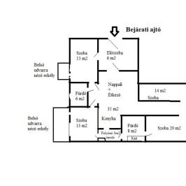 Eladó  téglalakás (Budapest, XIII. kerület) 135,5 M  Ft