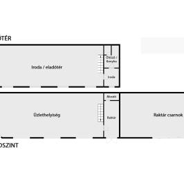 Kiadó  üzlet (Eger, Felnémet) 200 E  Ft/hó
