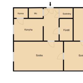 Eladó  téglalakás (Nyíregyháza, Érkert) 16,6 M  Ft