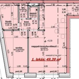 Eladó  téglalakás (Nyíregyháza, Belváros) 22,3 M  Ft
