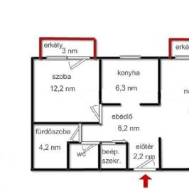 Eladó  téglalakás (Nyíregyháza, Hímes) 22,2 M  Ft