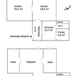 Eladó  téglalakás (Budapest, XIV. kerület) 42,65 M  Ft