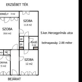 Eladó  téglalakás (<span class='notranslate'>Budapest, V.  </span>kerület) 92,99 M   <span class='notranslate'>Ft</span>