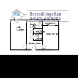 Eladó  panellakás (Miskolc) 15,49 M  Ft