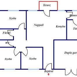 Kiadó  családi ház (<span class='notranslate'>Debrecen</span>, <span class='notranslate'>Tégláskert</span>) 260 E   <span class='notranslate'>Ft</span>/hó