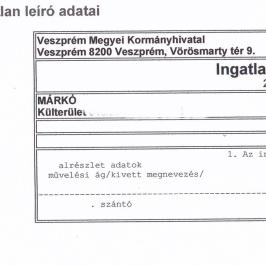 Eladó  mezőgazdasági ingatlan (<span class='notranslate'>Márkó</span>, <span class='notranslate'></span>) 20 M   <span class='notranslate'>Ft</span>