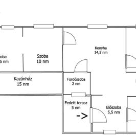 Eladó  családi ház (<span class='notranslate'>Győrszemere</span>, <span class='notranslate'></span>) 8.9 M   <span class='notranslate'>Ft</span>